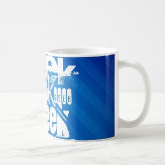 Cool Geek; Royal Blue Stripes Coffee Mug