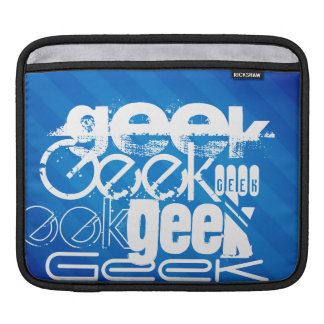 Cool Geek; Royal Blue Stripes Sleeves For iPads