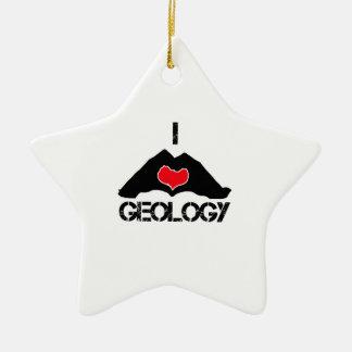 cool geology designs ceramic ornament