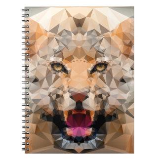 Cool Geometric Jaguar Notebook