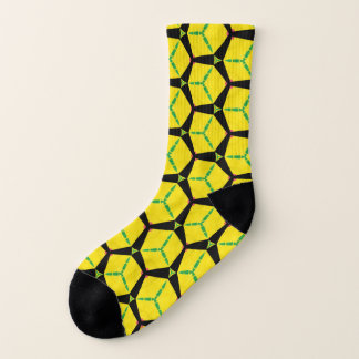 Cool Geometric Paper Yellow Boxes Black Background 1