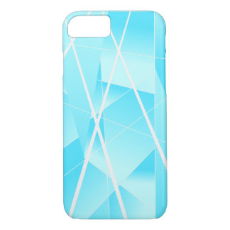 Cool Geometric Pattern in Ombre Sky Blue iPhone 8/7 Case