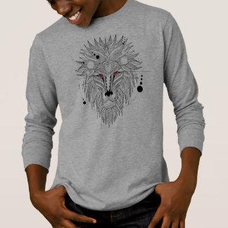 Cool Geometrical Lion Design | Sleeve Shirt