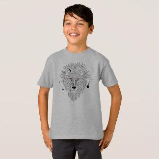 Cool Geometrical Lion Design Tagless Shirt
