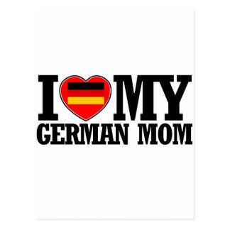 cool German  mom designs Postcard