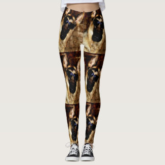 Cool German Shepherd in Sunglasses Leggings