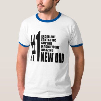Cool Gifts for New Dads : Number One New Dad T-Shirt