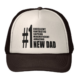 Cool Gifts for New Dads : Number One New Dad Trucker Hat