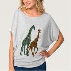 cool giraff t-shirt design wild life giraff