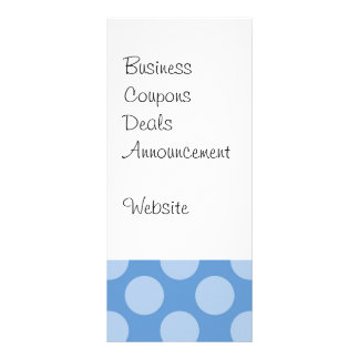 Cool Girly Blue Polka Dots Pattern on Blue Gifts Rack Card