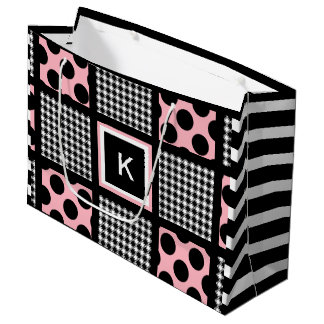 Cool Girly & Trendy Patterns Large Gift Bag