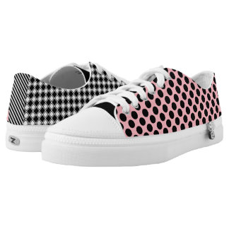 Cool Girly & Trendy Patterns Mismatched Low-Top Sneakers