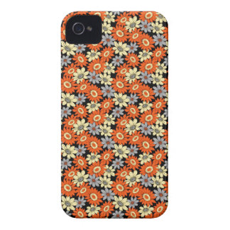 Cool girly vibrant floral flower ornament pattern iPhone 4 Case-Mate case