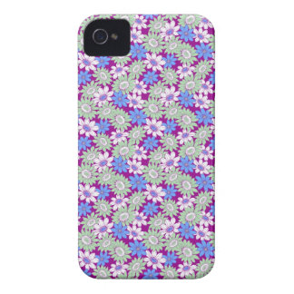 Cool girly vibrant floral flower ornament pattern iPhone 4 Case-Mate cases