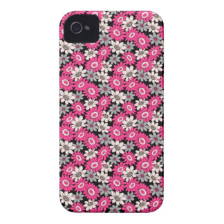 Cool girly vibrant floral flower ornament pattern iPhone 4 covers