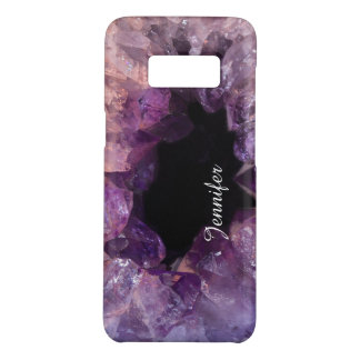 Cool glitter purple amethyst gemstone crystal name Case-Mate samsung galaxy s8 case
