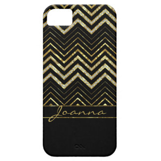 Cool Gold And Diamonds Chevron Pattern iPhone 5 Cover
