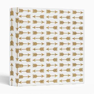 Cool Gold Brown Arrows Glitter Photo Print Binder