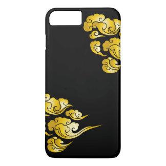 Cool Gold Cloud Patterns Black iPhone 7 Plus Case