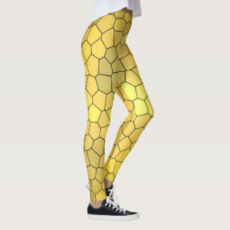 Cool Gold Mosaic Pattern Leggings
