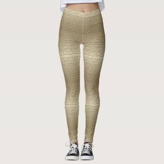 Cool Gold textured Leggings