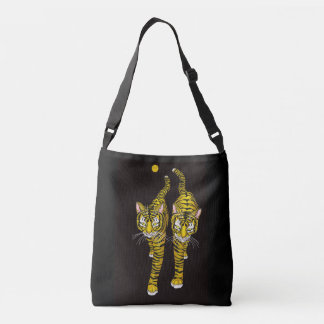 COOL GOLDEN CATS CROSSBODY BAG