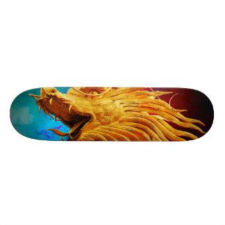Cool Golden Dragon colourful Thailand background Skate Board Deck
