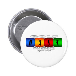 Cool Golf It Is A Way Of Life 2 Inch Round Button