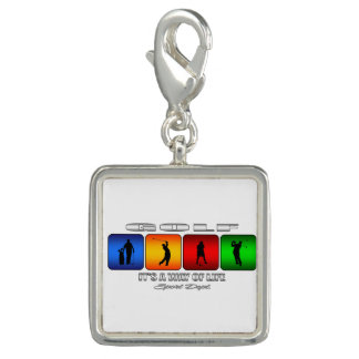 Cool Golf It Is A Way Of Life Photo Charms