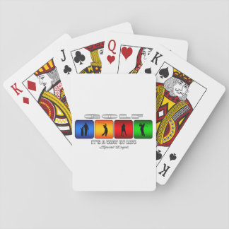 Cool Golf It Is A Way Of Life Playing Cards