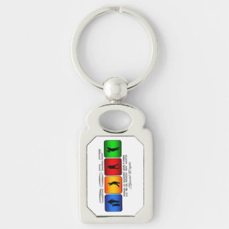 Cool Golf It Is A Way Of Life Silver-Colored Rectangle Keychain