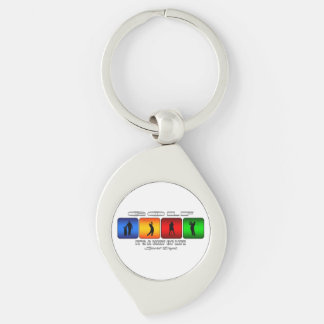 Cool Golf It Is A Way Of Life Silver-Colored Swirl Keychain