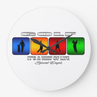 Cool Golf It Is A Way Of Life Wall Clock
