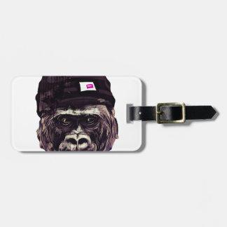 Cool Gorilla with cap Bag Tag
