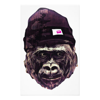 Cool Gorilla with cap Stationery Design