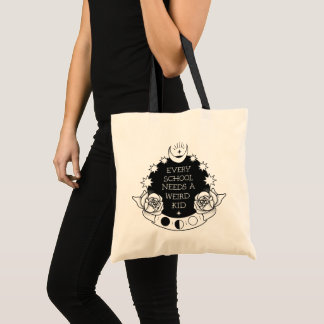 Cool Goth Weird Kid Tattoo Style Tote Bag