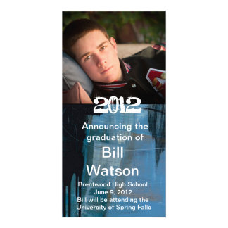 Cool Graduation Announcement Photo Greeting Card