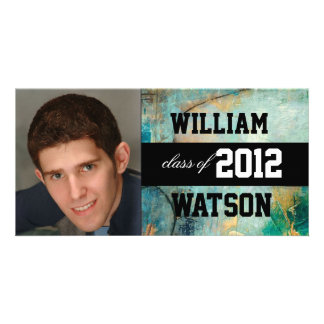 Cool Graduation Announcement Photo Card Template