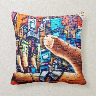 Cool graffiti art retro home office pillow
