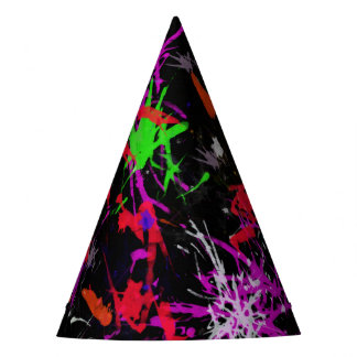 Cool Graffiti Paint Splatter Party Hat