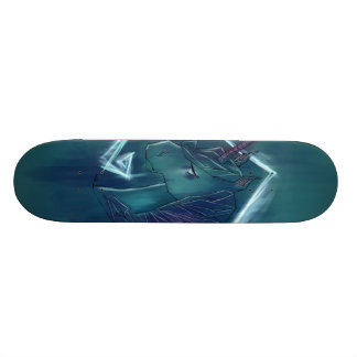 Cool graffiti unicorn skateboard