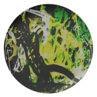 COOL GRAFFITTI EIGHT PARTY PLATE