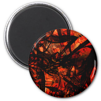 COOL GRAFFITTI FIVE 2 INCH ROUND MAGNET