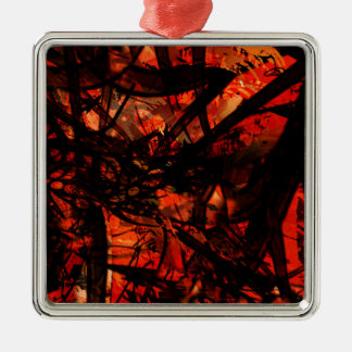 COOL GRAFFITTI FIVE Silver-Colored SQUARE ORNAMENT