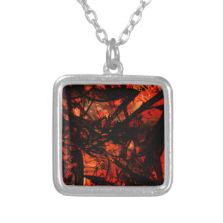 COOL GRAFFITTI FIVE SILVER PLATED NECKLACE
