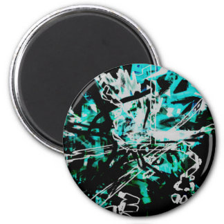 COOL GRAFFITTI SEVEN 2 INCH ROUND MAGNET