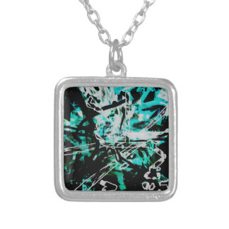 COOL GRAFFITTI SEVEN SILVER PLATED NECKLACE