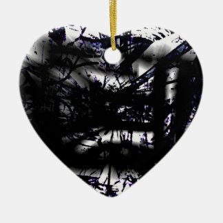 COOL GRAFFITTI SIX CERAMIC HEART ORNAMENT