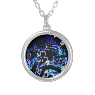 COOL GRAFFITTI TEN SILVER PLATED NECKLACE
