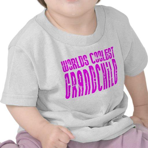Cool Grandchildren Pink  Worlds Coolest Grandchild T-shirt
